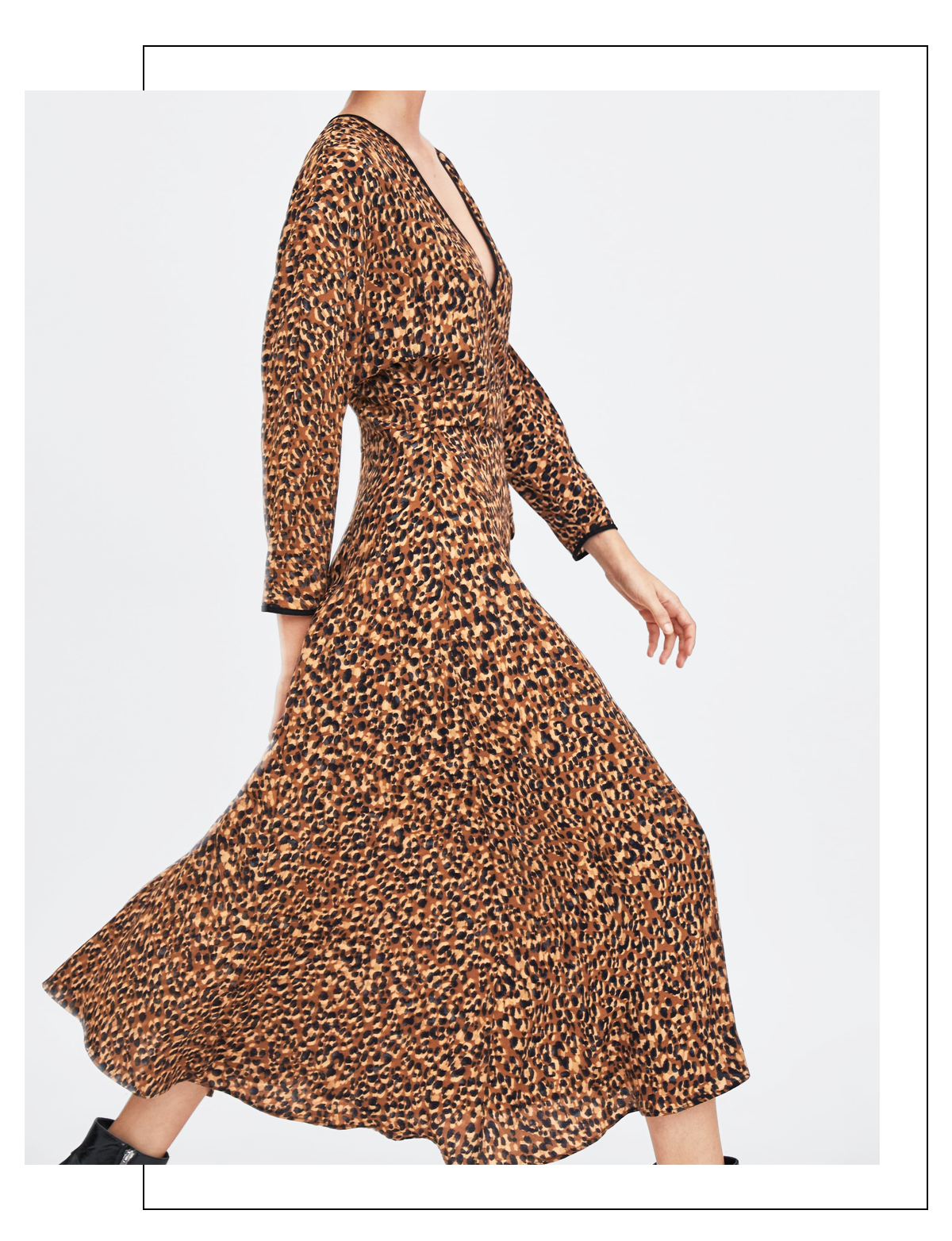 robe leopard tendance