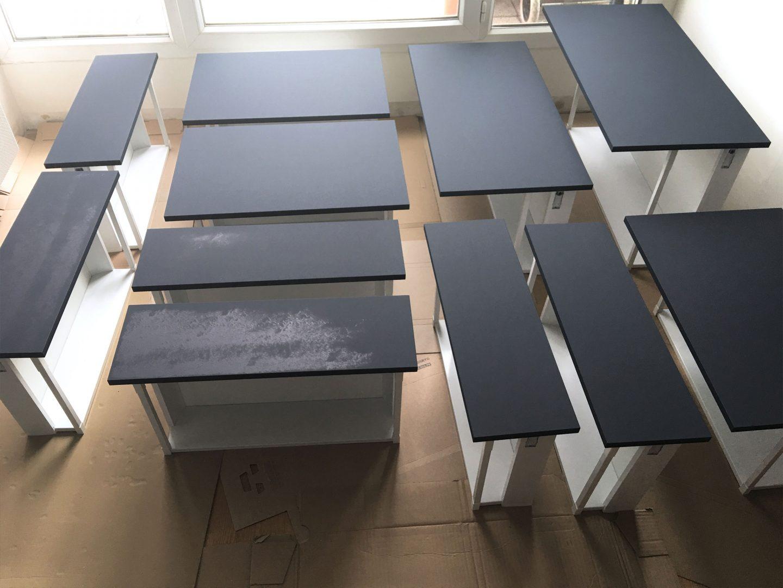 peindre ses meubles de cuisine noir bleu