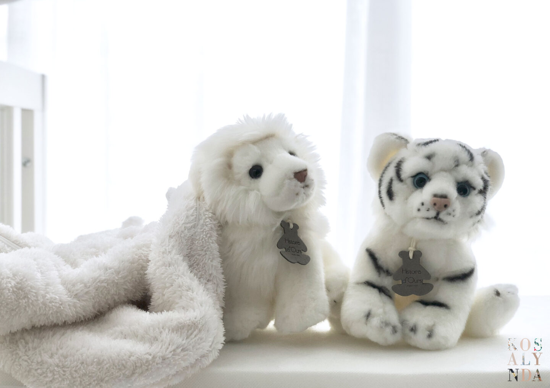 Peluches Histoire d'ours tigre et lion animaux sauvages